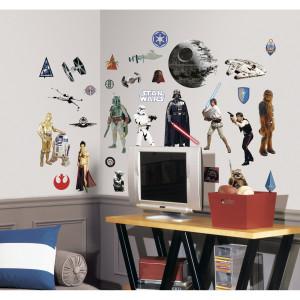 Adesivi da Parete Star Wars 31 pz *02052 Sticker Disney Arredo cameretta bimbo