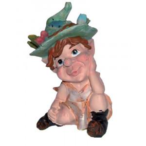 Statuetta in poliresina Le priscilline portafortuna Elfo Carlotta *04022