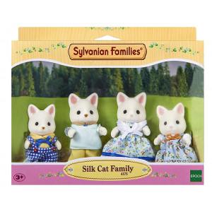 Sylvanian Families Famiglia Gatti PS 05683 Silk Cat Family 4175 pelusciamo store