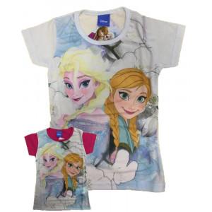 T-shirt Bimba Disney Maglietta Manica Corta Bambina Frozen *23665 Pelusciamo.com