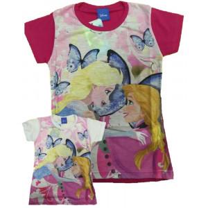 T-shirt Bimba Frozen Maglietta Manica Corta Bambina Disney *23671