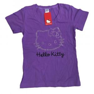 T-shirt Donna Hello Kitty Viola, Maglietta Manica Corta | pelusciamo.com