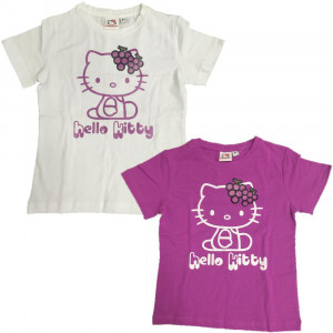 T-Shirt Bimba Hello Kitty Uva Glitter Maglietta maniche corte Bambina  | pelusciamo.com