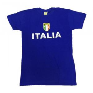T-Shirt Italia Maglietta Maniche Corte Azzurri Nazionale Italiana | Pelusciamo.com