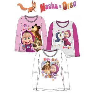 T-shirt maglietta Bimba Masha e Orso *21696 Maglia Manica lunga   Pelusciamo.com
