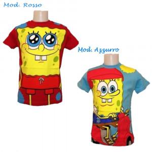 T-shirt bambino Spongebob, Maglietta Maniche Corte Cartoon | pelusciamo.com