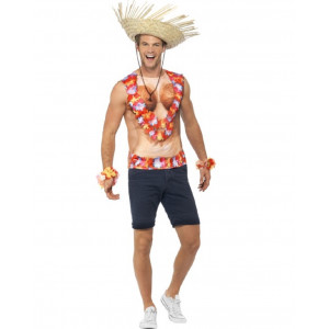 T-shirt Hawaii Party Hawaiano Stampata A Sublimazione PS 08037