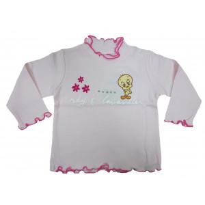 Maglia Bambina Baby Looney Tunes Manica Lunga Rosa | Pelusciamo.com