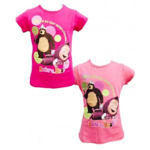 T-shirt  Bimba Masha e Orso Maglietta Manica Corta   Pelusciamo.com