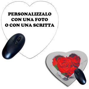 Tappetino Mouse Pad A Cuore Personalizzabile 20x20 cm | Pelusciamo.com