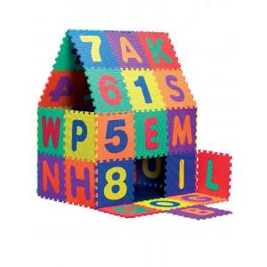 Giochi per bambini Tappeto puzzle da pavimento con lettere 5pz 33x33 cm. *00679