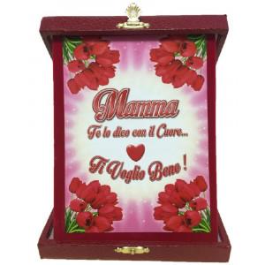 Targa Commemorativa Festa Della Mamma Ti Voglio Bene PS 05898 pelusciamo store