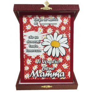 Targa Festa Della Mamma Ti Voglio Bene Idea Regalo PS 05894 pelusciamo store