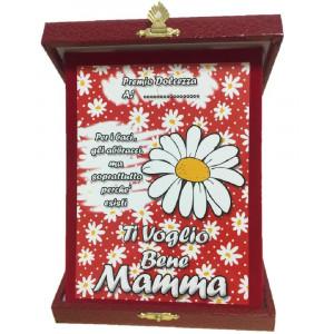 Targa Festa Della Mamma Ti Voglio Bene Idea Regalo PS 05893 pelusciamo store
