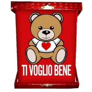 Targa orsetto teddy love ti voglio bene idea regalo per san valentino 04964 pelusciamo store Marchirolo