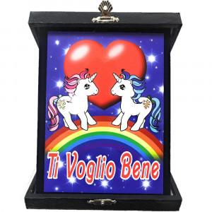 Targa Ti Voglio Bene Unicorno Idea Regalo San Valentino PS 26434 Pelusciamo Store Marchirolo