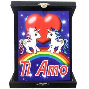 Targa Unicorni Innamorati Ti Amo Idea Regalo San Valentino PS 26433 Pelusciamo Store Marchirolo