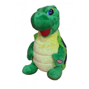 Peluche tartaruga verde con collo lungo - 34 cm | Pelusciamo.com