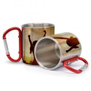 1 Tazza in Alluminio con Moschettone Personalizzabile Foto Dediche PS 09371 Tazze Personalizzata Pelusciamo Store Marchirolo