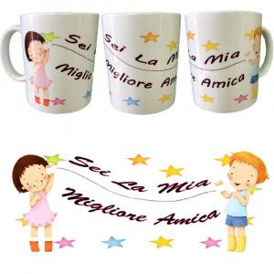 Tazza In Ceramica Sei La Mia Migliore Amica 10x8 PS 09370-4 Pelusciamo Store Marchirolo