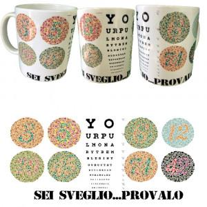 Tazza In Ceramica Sei Sveglio Dimostralo 10x8 PS 09370 Pelusciamo Store Marchirolo