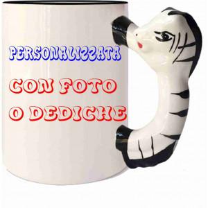 Tazza In Ceramica Zebra Personalizzabile Foto Dediche PS 09367 Tazze Personalizzata Pelusciamo Store Marchirolo