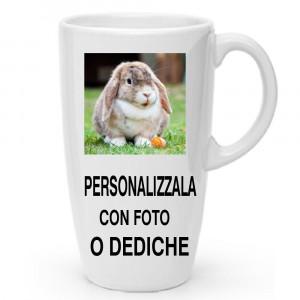 Tazza Grande Conica 490 ml Personalizzabile Foto Dediche PS 11482 Tazzone Personalizzato Pelusciamo Store Marchirolo