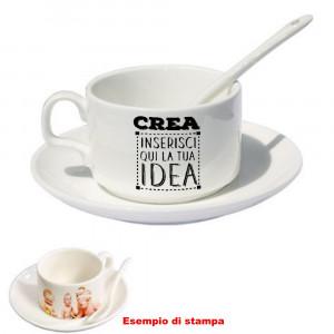 Tazzina da Caffè Personalizzabile con Cucchiaino e Piattino  |  Pelusciamo Store Marchirolo