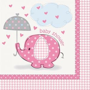 Confezione 16 Tovaglioli  Carta , Baby Shower Nascita Bimba PS 20673 | Pelusciamo.com