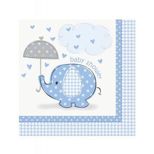 Confezione 16 Tovaglioli  Carta , Baby Shower Nascita Bimbo PS 11131 | Pelusciamo.com