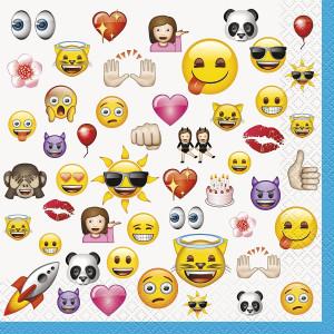 Confezione 16 Tovaglioli Carta Emoticon, Emoji | pelusciamo.com