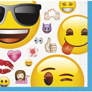 Confezione 16 Tovaglioli Carta Piccoli , Smile  Emoji  | pelusciamo.com