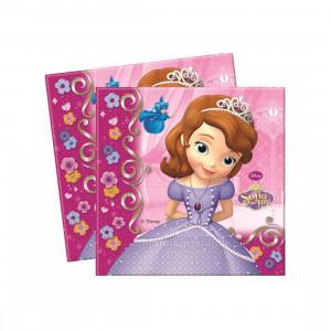 Confezione 20 Tovaglioli Carta Principessa Sofia Disney | pelusciamo.com