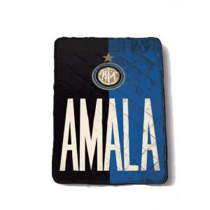 Quilt trapuntino singolo 1 Piazza 160 x 260 cm. ufficiale Inter Internazionale *19533 pelusciamo store