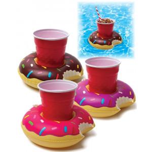Tris Portabibite a forma di Mini Donut Galleggianti gonfiabile mare piscina *01639 pelusciamo store