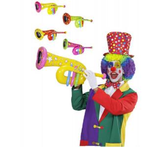 Tuba tromba gonfiabile 63 cm accessori x costume carnevale clown *19759 pelusciamo store