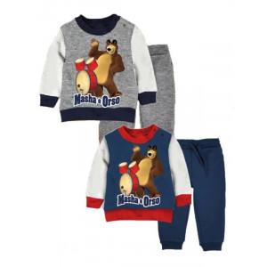 Completo Tuta Bimbo Masha e Orso *20478 Abbigliamento Primaverile   Pelusciamo.com