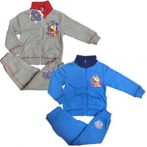Tuta felpata bambino con zip Paw Patrol, Felpa con Cappuccio e Pantaloni Bimbo | pelusciamo.com