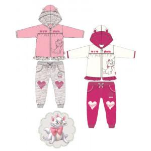 Tutina neonata Disney Aristogatti Marie pantalone e felpa *24478