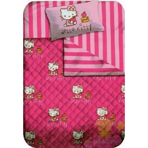 Trapunta Letto 1 pazza 1/2 Hello Kitty School