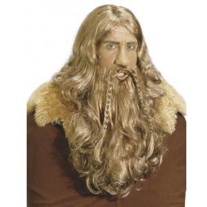 Parrucca Vichingo con Barba e Baffi Accessori Carnevale PS 26562 Pelusciamo Store Marchirolo