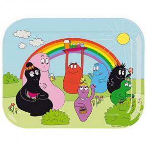 Vassoio per bambini in melamina accessori casa Barbapapà | Pelusciamo.com