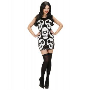 Costume Halloween Donna, Vestito Paillettes Teschi | pelusciamo.com