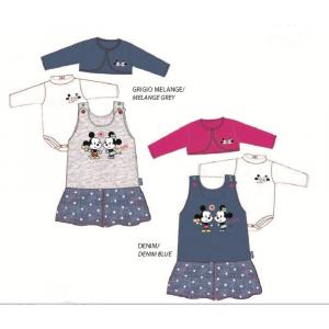 Vestitino felpato neonata Disney Minnie body scaldacuore *24486 pelusciamo store