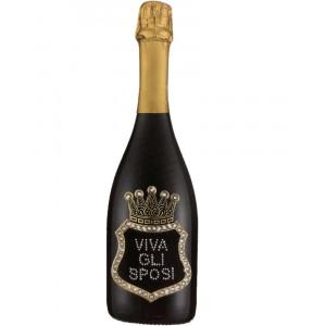 Bottiglia Di Prosecco Extra Dry 0.75 ML. Personalizzata Viva Gli Sposi PS 27268