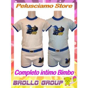 Coordinato bimbo Batman t-shirt + boxer
