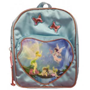 Zaino scuola Disney Fairies azzurro - 37 x 30 x 7 cm   Pelusciamo.com