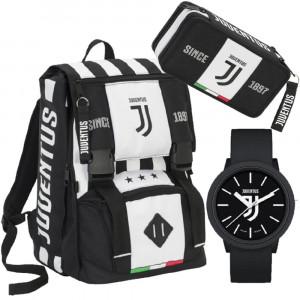 6417b56a2f Juventus JJ Zaino Scuola + Astuccio e Orologio Calcio Juve PS 13015