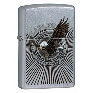 Accendino Zippo Eagle Ottone a Benzina    Pelusciamo.com