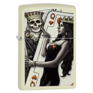 Zippo Accendino Antivento Crema Skull King Queen | pelusciamo.com